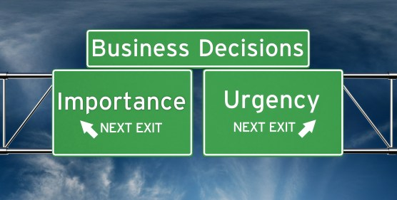 sense of urgency importance decisions do