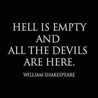 trump 100 hell is empty devils here