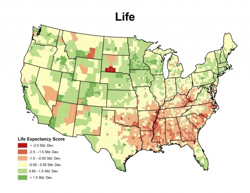 ............ Life expectancy standard deviation ................