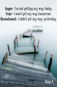 resentment fear anger