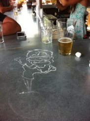 Drawing on bar