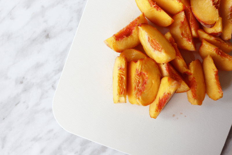 Okanagan Peaches Sliced for Simple Syrup