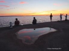 fishing on the Lakeside dock