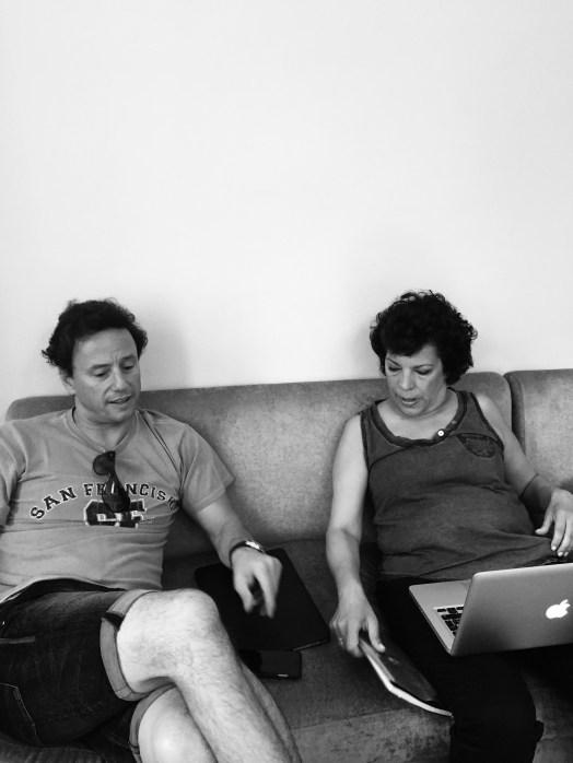 Matt EP and Theresa, line producer.