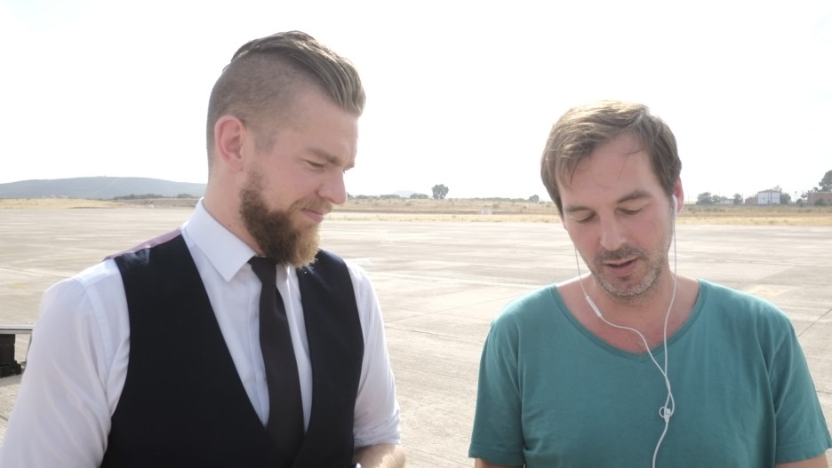 Hendrik (Thjnk boss) and Stefan (creative boss)