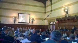 Hampshire County Council debating chamber Breastfeeding Deputation