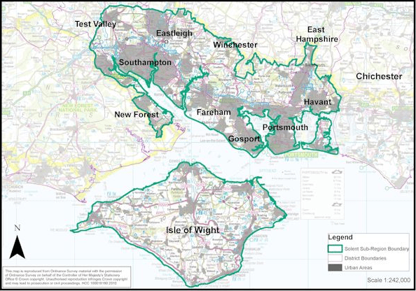 The Region covered by the Solent LEP