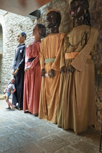 With the Giants in Morella.