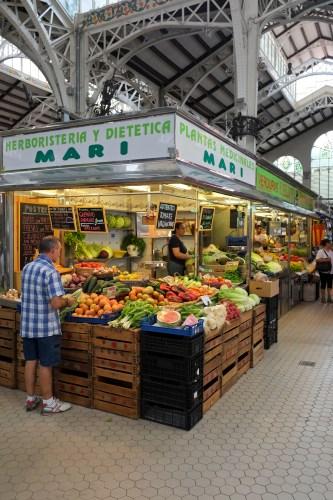 Veggies at the Mercado Central in Valencia