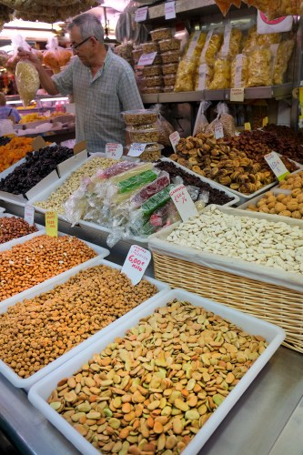 Nuts at the Mercado Central in Valencia