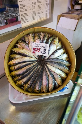 Sardines at the Mercado Central in Valencia