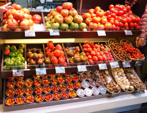 Tomatoes at the Mercado Central in Valencia
