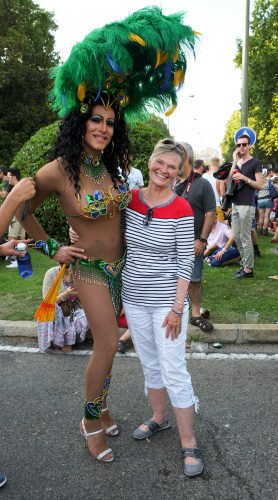 Wendi with Cher at the Gay pride parade in Madrid