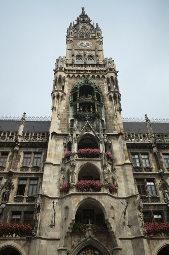 The Rathaus in Marienplatz