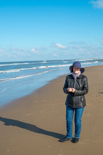 On the beach in Bloemendaal ann Zee