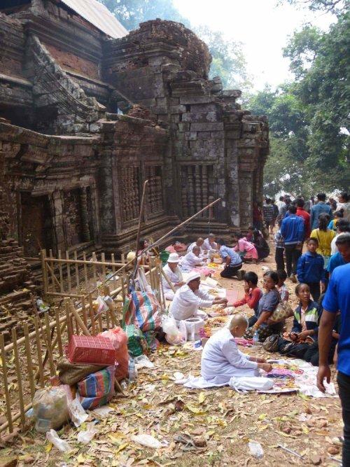 Tempelfest in Laos