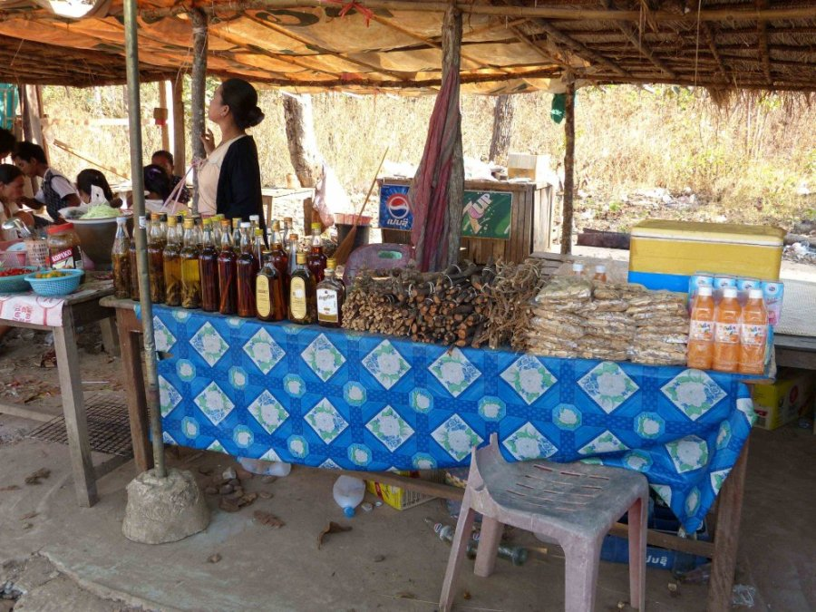 Marktstand in Laos