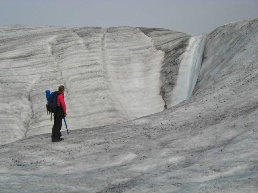 Gletscherwanderung im Wrangell-St. Elias-Nationalpark in Alaska