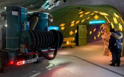 Jungfraujoch: Tunnelreinigung 3'466 m ü. M.
