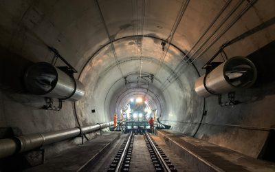 Reinigungsarbeiten am Gotthard-Basistunnel