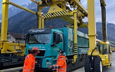 Gotthard-Basistunnel – Reinigungsarbeiten