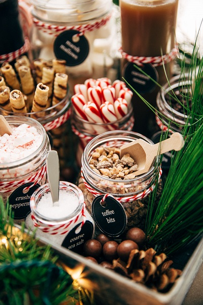 Warme chocolademelk toppings