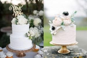 Witte bruidstaarten