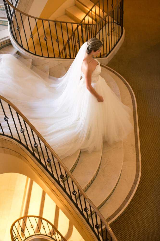 Bruid op trap