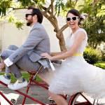 Bruidspaar op de fiets