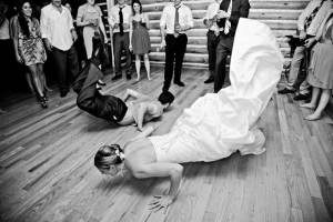Bruidspaar doet een bijzondere openingsdans