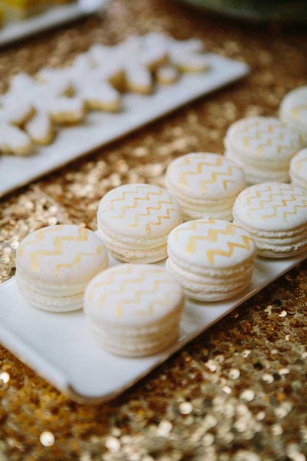 Chevron macarons