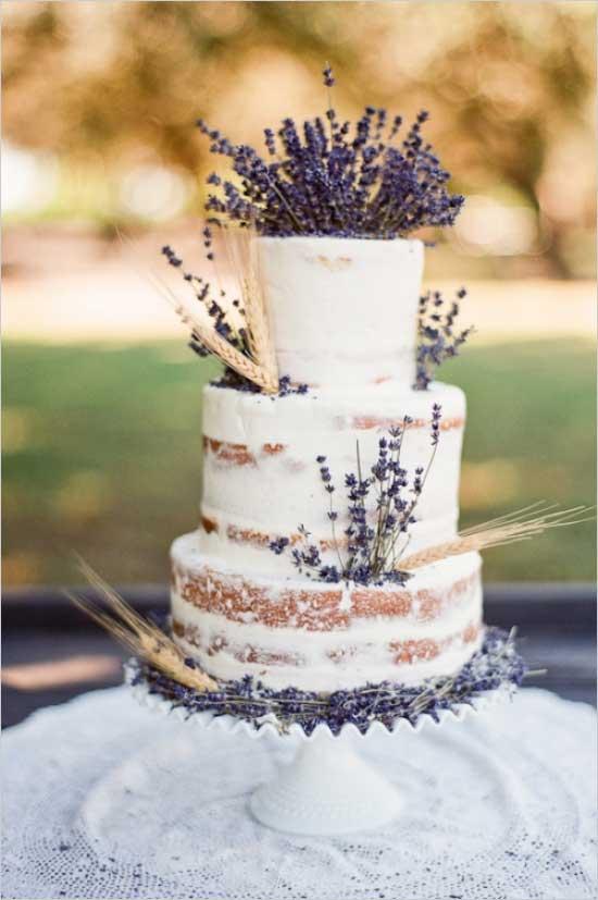 Lavendel bruidstaart