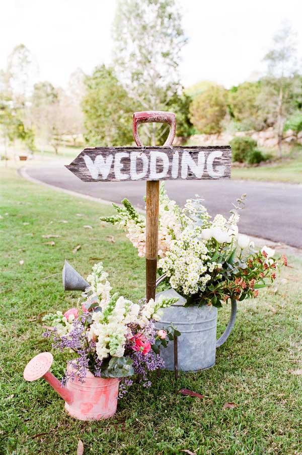 Bruiloft bordje