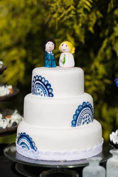 Delfts blauwe bruidstaart