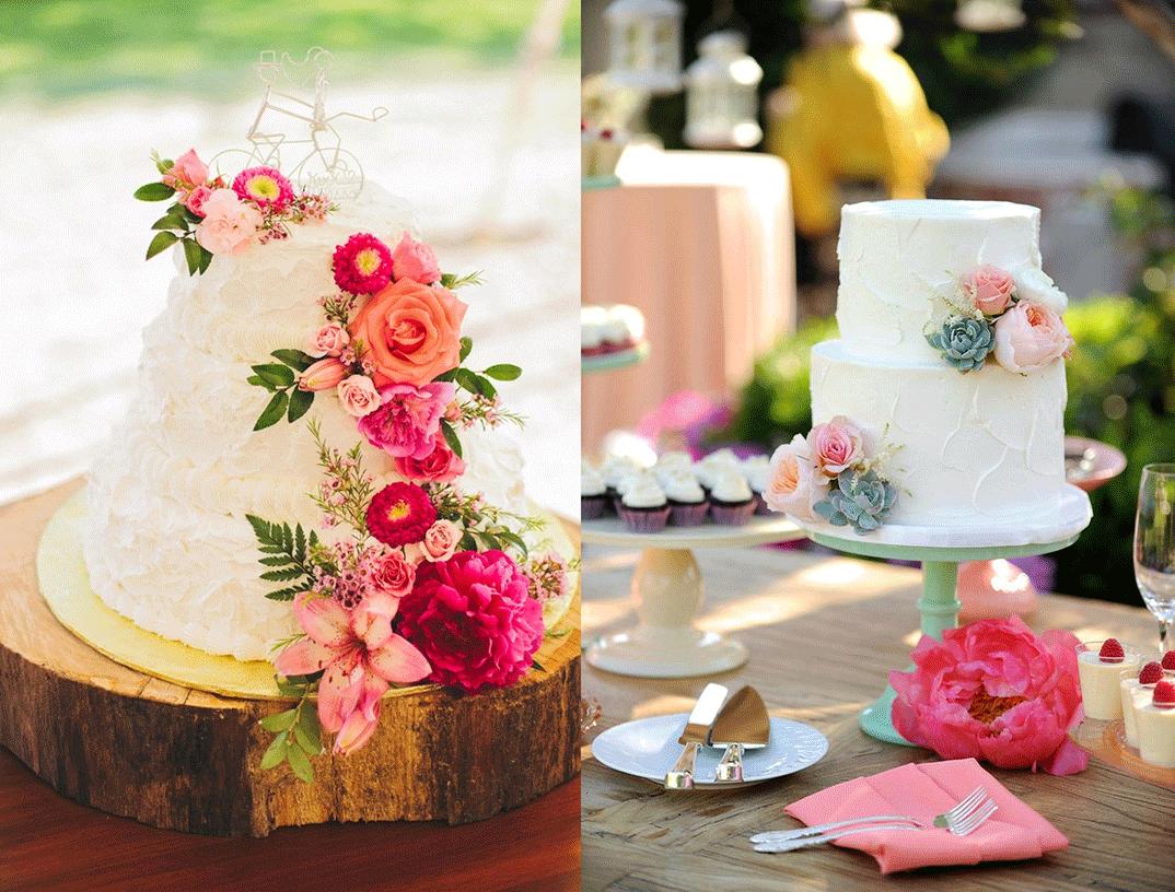 Bloemen bruidstaarten