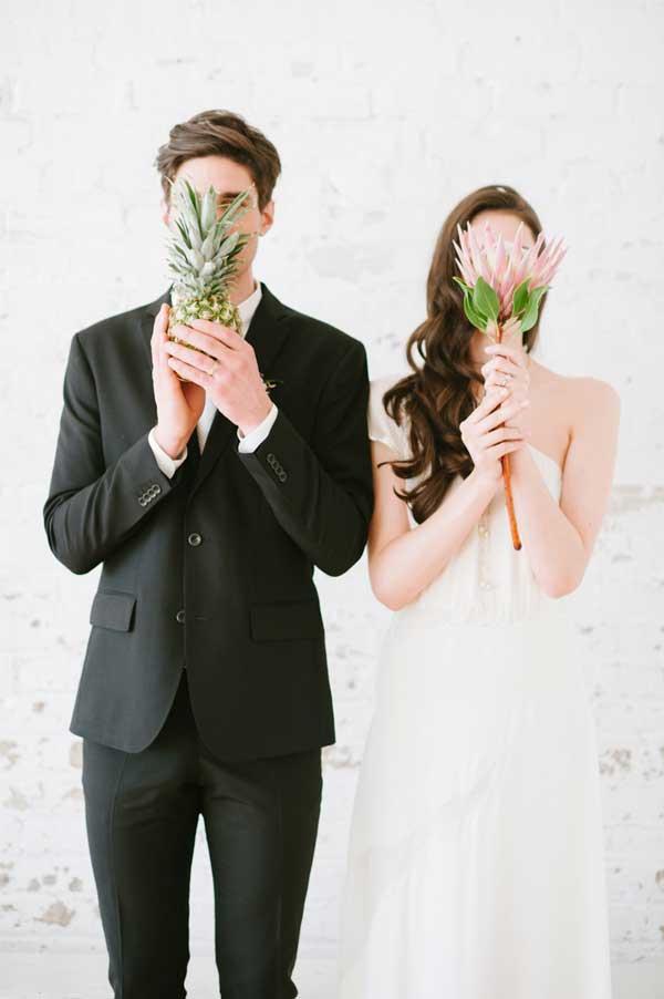 Bruidegom met ananas