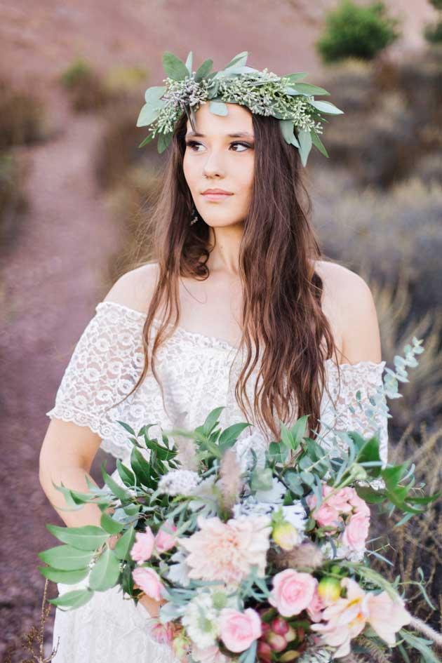Bruid met duurzame bruiloft