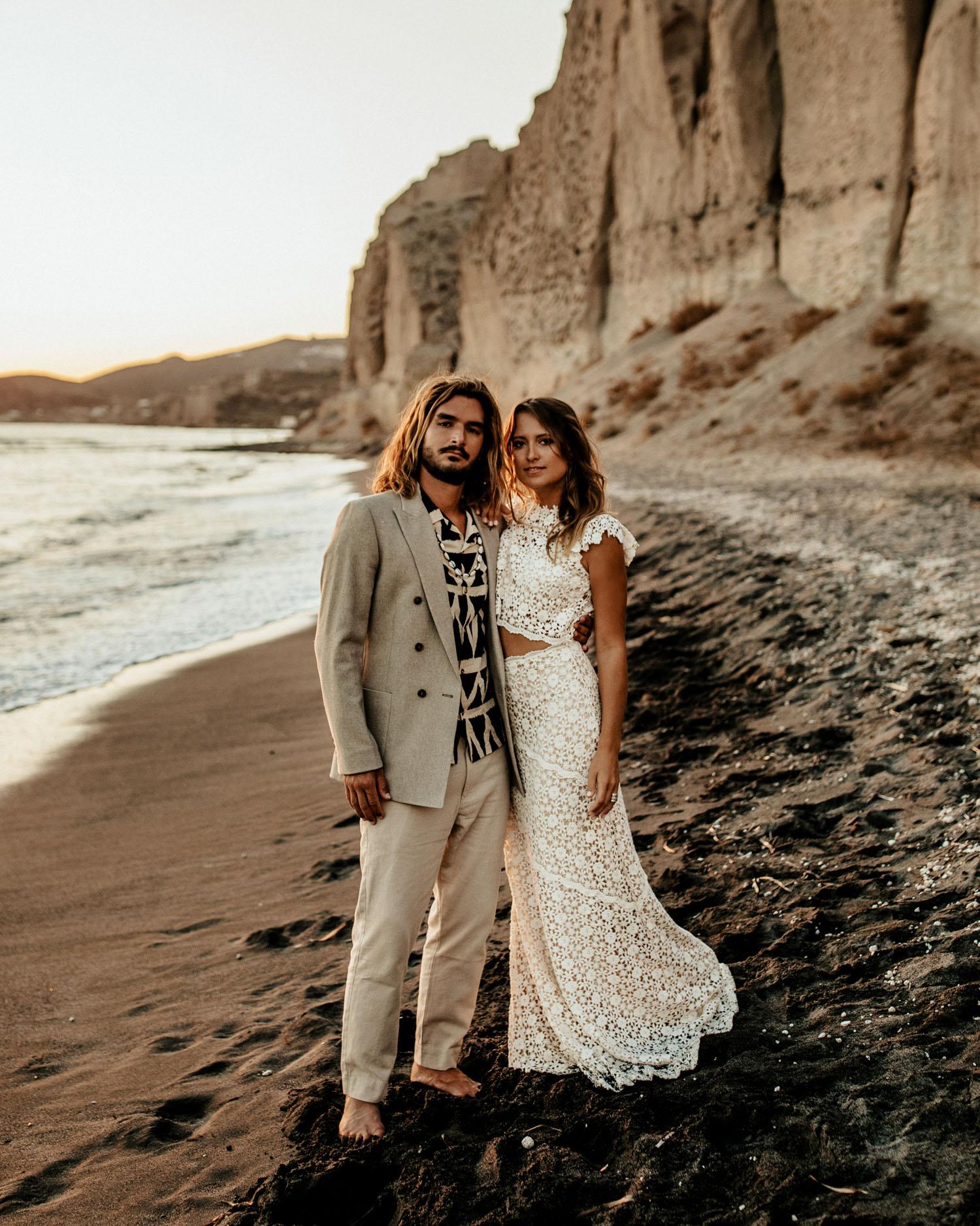 Bohemian bruiloft op het strand