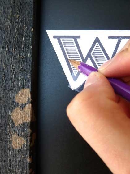 Krijtbord letters maken