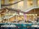 Bruiloft in een museum met dinosaurus