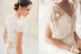Twee keer een trouwjurk met korte mouwen