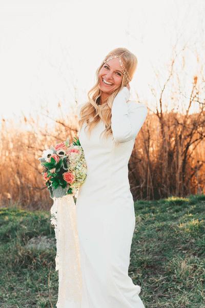 Genoeg De mooiste trouwjurken met lange mouwen   Bruiloft Inspiratie &WF97