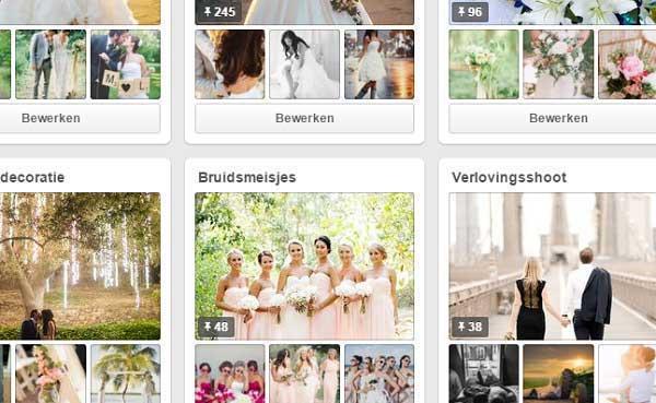 Bruiloft Inspiratie op Pinterest