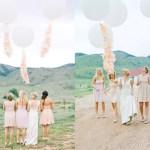 Bruiloft met grote ballonnen