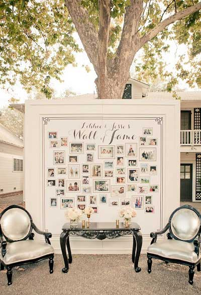 Wall of Fame bruiloft