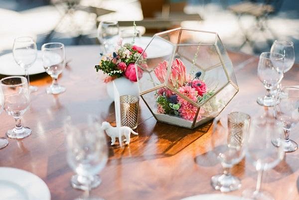 Centerpieces op een bruiloft