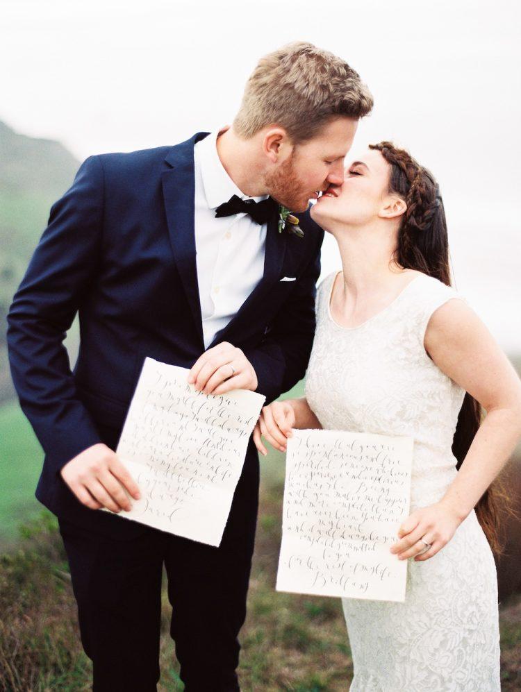 Bruidspaar met eigen geloften