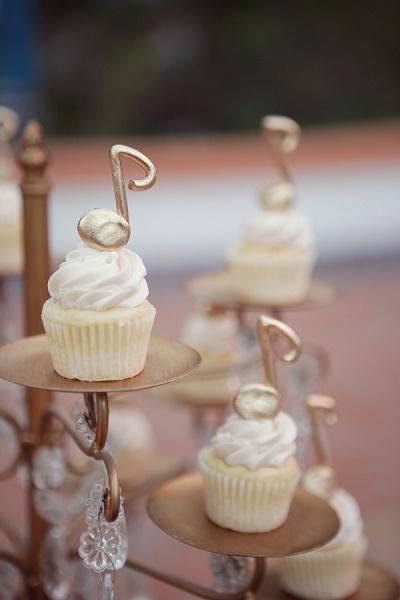 Cupcakes met muzieknootjes