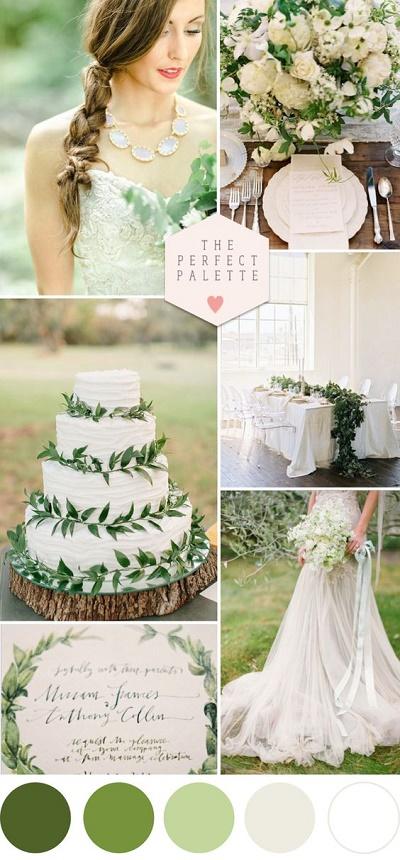 Kleurenthema bruiloft groen