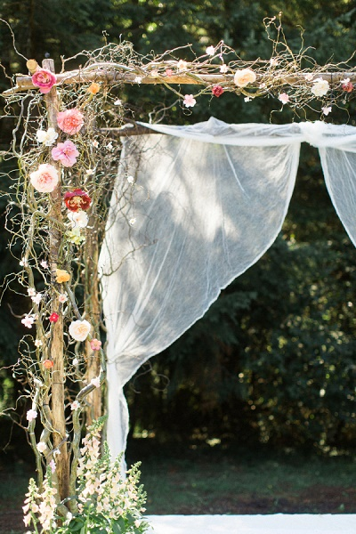 Bruiloft ceremonie styling